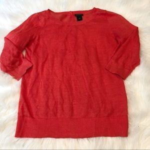 Ann Taylor Classic Red Scoop Neck Sweater